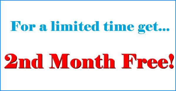 storage 2nd month free